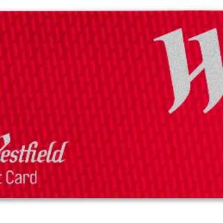Westfield gift card $50