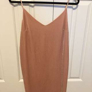 Peach slip dress