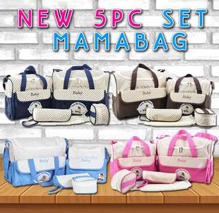 NEW 5PC SET MAMABAG
