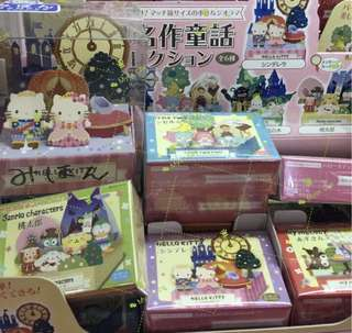Sanrio character 世界名作童話佈景板 水怪Hello Kitty Melody 可羅米PC狗 twins star