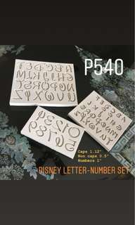 Disney Letter/Number Silicone Mold Set