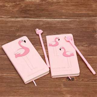 Flamingo Unicorn Notebook