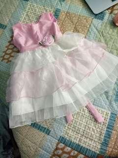 Light Pink Flower Dress for 1-2y/o