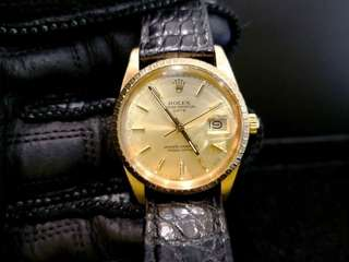 PREOWNED ROLEX Oyster Date, 15038, Full 18Ct Solid Yellow Gold, 34mm, R Series @ Year 1987 Mens Watch
