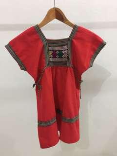 Red antique dress