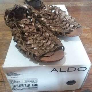 Aldo gold sandal shoes