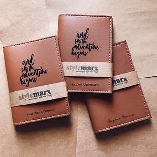 Stylemarx Personalized passport sleeves (full size engraved)