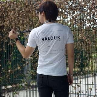 🚚 Valour 'Hardihood' White Streetwear Label
