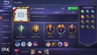 Mobile legends Android account