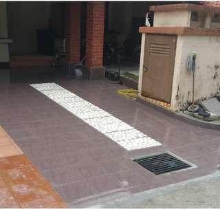 Upah buka dan pasang tiles parking kereta