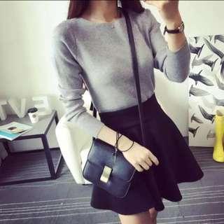 Gray sweater Shirt jumper Korean cute size 6-8