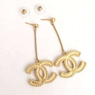 Authentic Chanel Classic Dangle Earrings