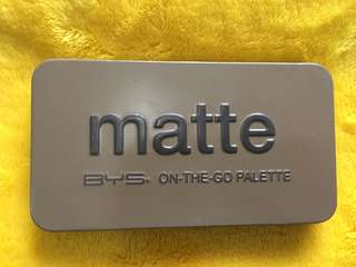 BYS matte 6 color eyeshadow