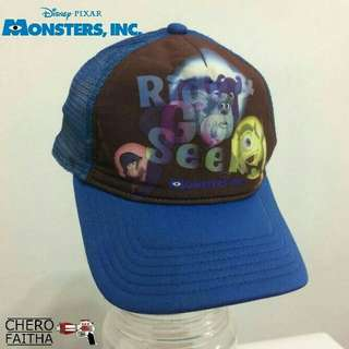 Monster Inc. Kid hat cap trucker snapback topi budak