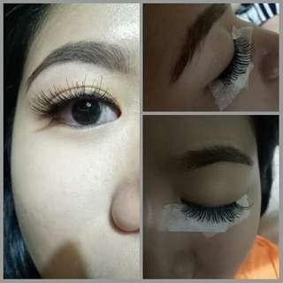Eyelash extensions and eyelash perming