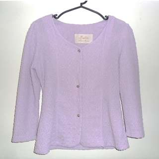 Charity Sale! Authentic Ballet Made in Korea Lavendar Soft Women's Blazer Size Small
