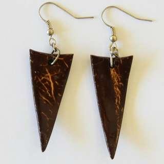 African Triangle Earrinsg