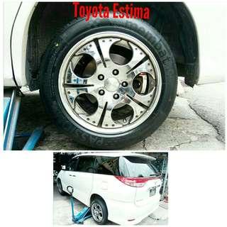 Tyre 215/55 R17 Membat on Toyota Estima 🐕 Super Offer 🙋♂️