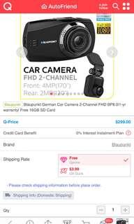 Digital video recorder car camera.