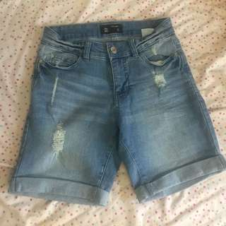 Above the knee length shorts