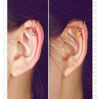 No piercing Cuff earings
