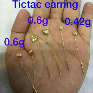 Earrings tictac and stud