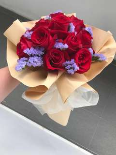 Fresh Roses Lavender Bouquet • Customized