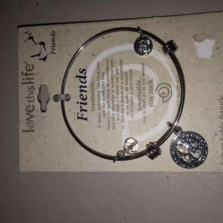 Expandable Bangle Charm Bracelet
