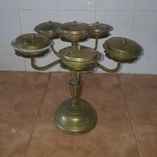Antique brass bunga rampai set