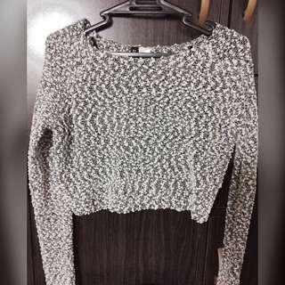 H&M Long Sleeves Crop Top