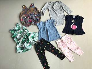 Baby girl Clothes bundle (6-18M)
