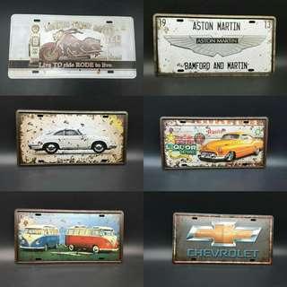 Vintage tin plates 15x31 cm