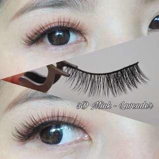 3D Mink eyelashes - Lavender