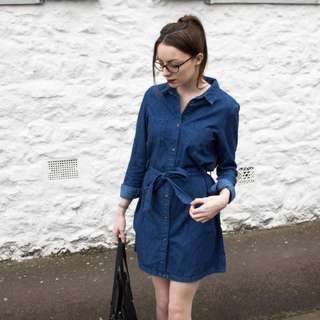Denim Dress w/belt