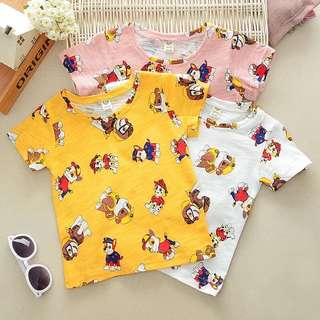 Little Paw Patrol Kid Tee - HGR211  Color: as attach photo  Size: 90cm, 100cm, 110cm, 120cm, 130cm