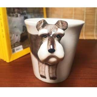 手繪動物立體馬克杯-雪納瑞 3D立體手繪杯 造型馬克杯 陶瓷杯子 茶水杯 水壺 水杯 250-300ml