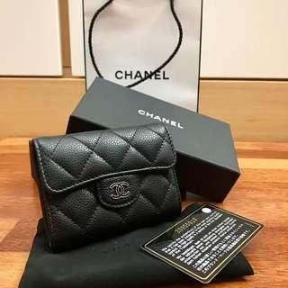 Chanel Compact Wallet Caviar