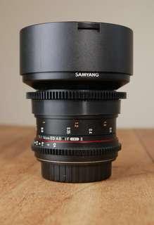 Samyang 14mm T3.1 cine lens ( eos mount )