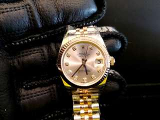 BRAND NEW ROLEX Datejust 31, 178271  Rolesor, 31mm, Boy-size, Alphanumeric Series @ Year 2018 Ladies Watch