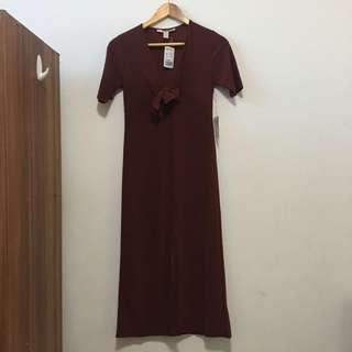New! Forever21 Long Maroon Dress from Japan [Brand New]
