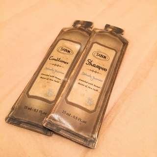 Sabon Delicate Jasmine 茉莉 洗髮乳+護髮素 15ml 各1