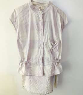 Charity Sale! Authentic Levi's San Franciso Tie-up Plaid Short Sleeve Button Up Women's Shirt Top Size Small 100% Cotton