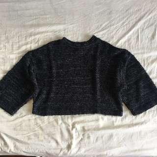 Tweeded Crop sweater