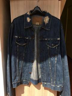 Abercrombie & Fitch Distressed Denim Jacket Original Size L