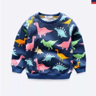 Dinosaur printed sweater size 100