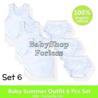 Baby Cotton Sando Set - Set 6