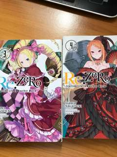 Re zero English volume 3,4