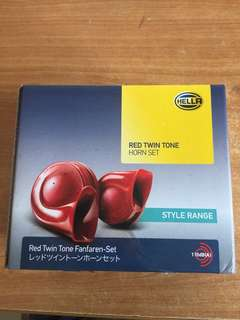 Hella Red Twin Tone Horn Set