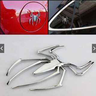3D Car Truck Hood Spider Emblem Metal Sticker Universal Decal