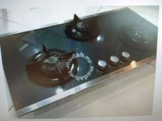 Electrolux Built-in Gas Stove (tempered glass 3 burners)